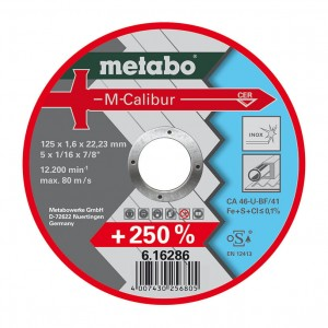 METABO Tarcza do cięcia stali INOX M-Calibur 125 x 1.6 x 22.23mm TF 41